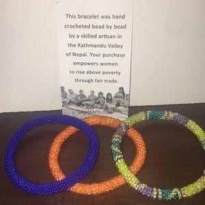 Jewelry - 🎁✨Crocheted bead bracelets handmade in Nepal✨